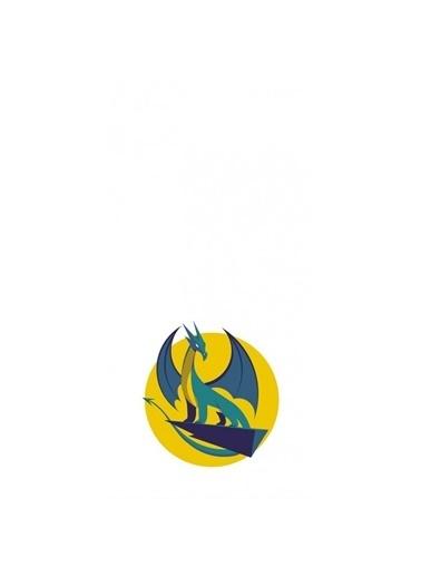 Artikel Ejderha Desenli Dekoratif Çift Taraflı Yastık Kırlent Kılıfı 45x45 cm Renkli